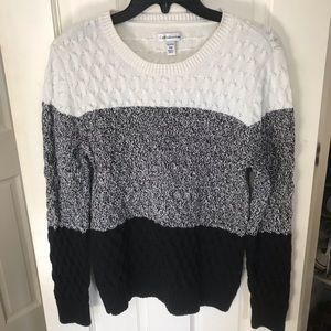 Sweaters - Petite Croft's&Barrow color-block sweater.